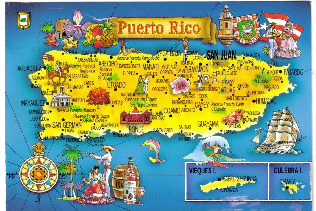 Туристическая карта Пуэрто
