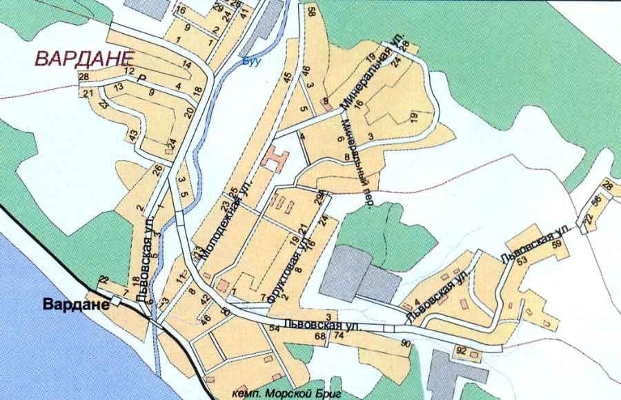 Карта поселка Вардане