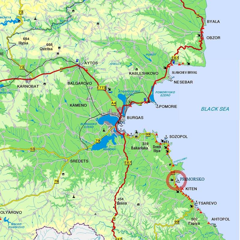 карта приморско болгария скачать бесплатно