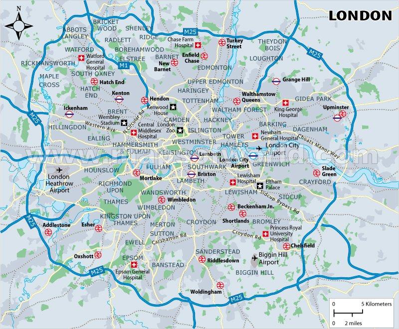 карта курорта Лондон