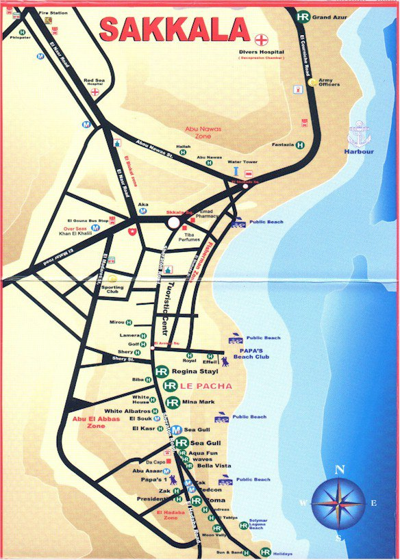 карта курорта Хургада