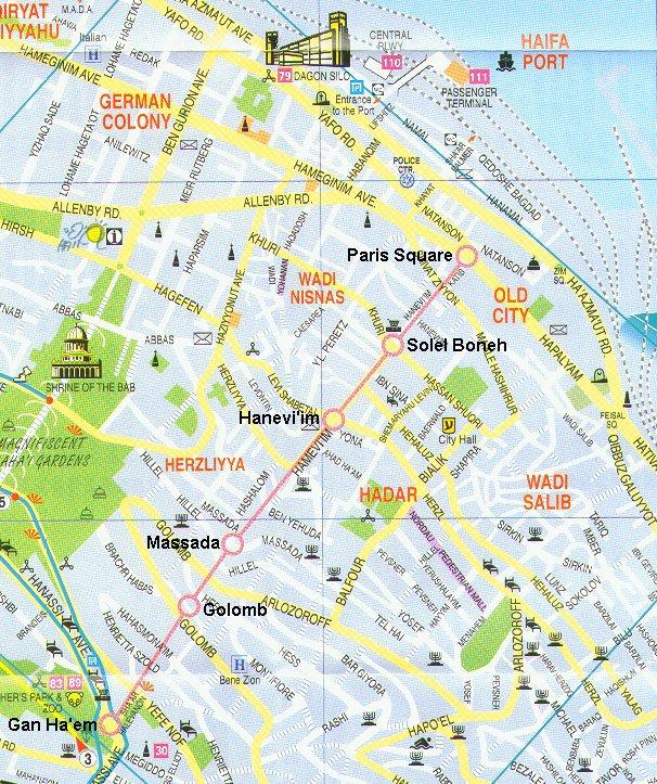 карта курорта Хайфа