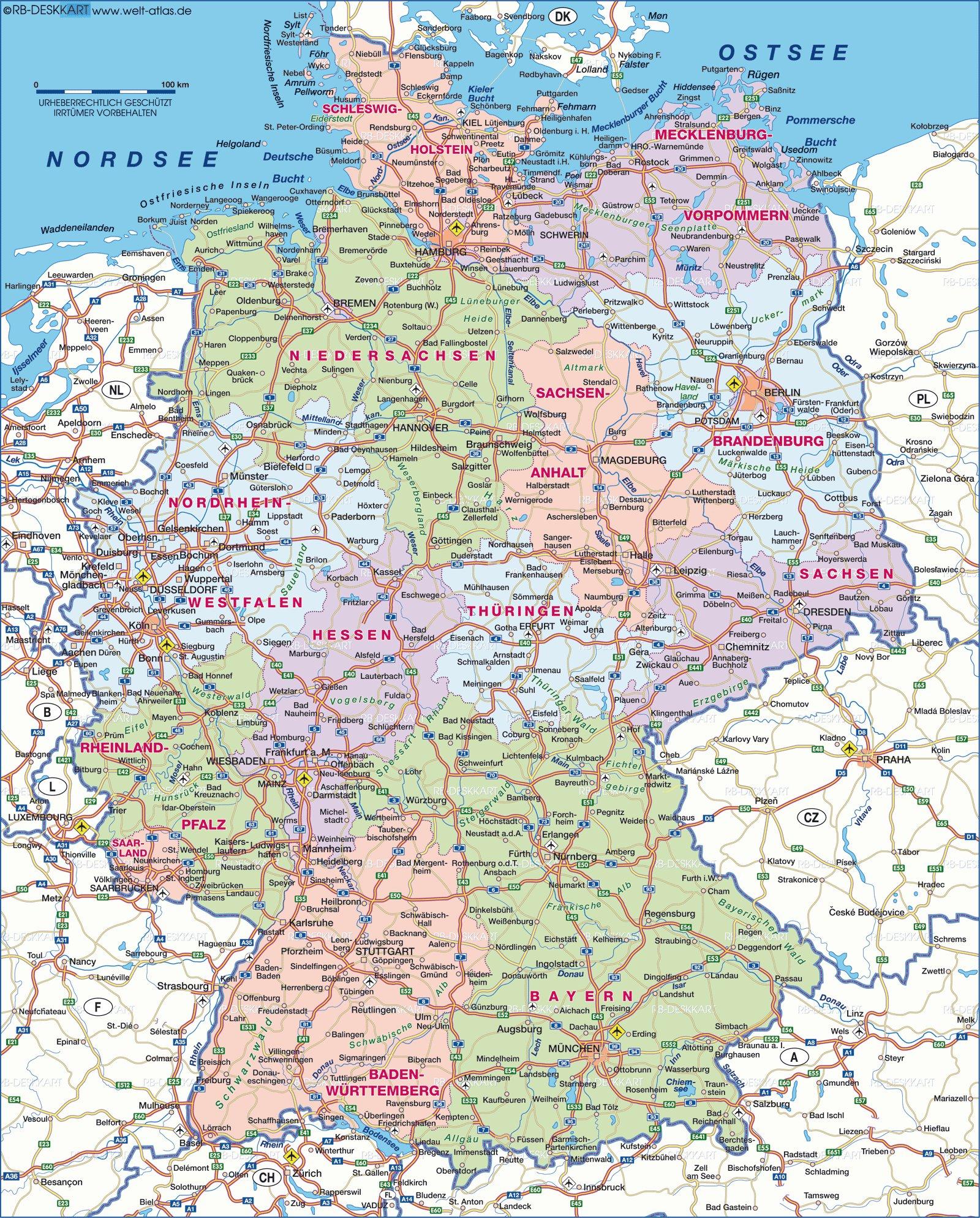 Карты германии