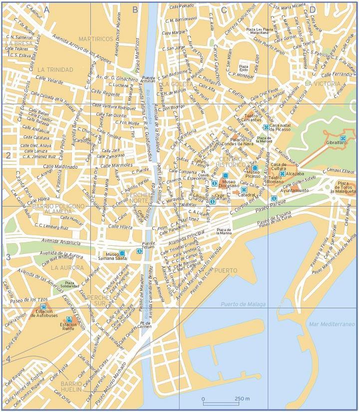 карта курорта Малага
