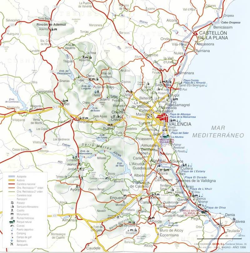 Карта Испании на русском языке. Подробная карта с городами ...