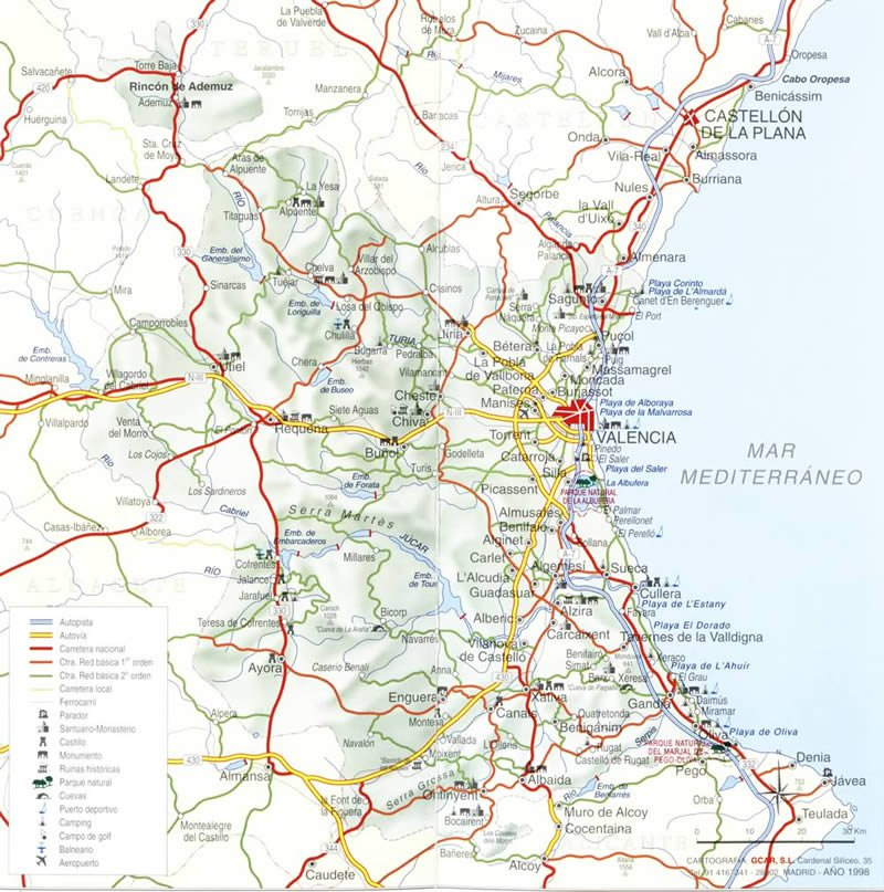 Карты Валенсии (Испания). Подробная карта Валенсии на ... Валенсия Испания Карта