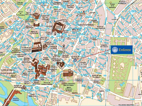 карта курорта Саламанка