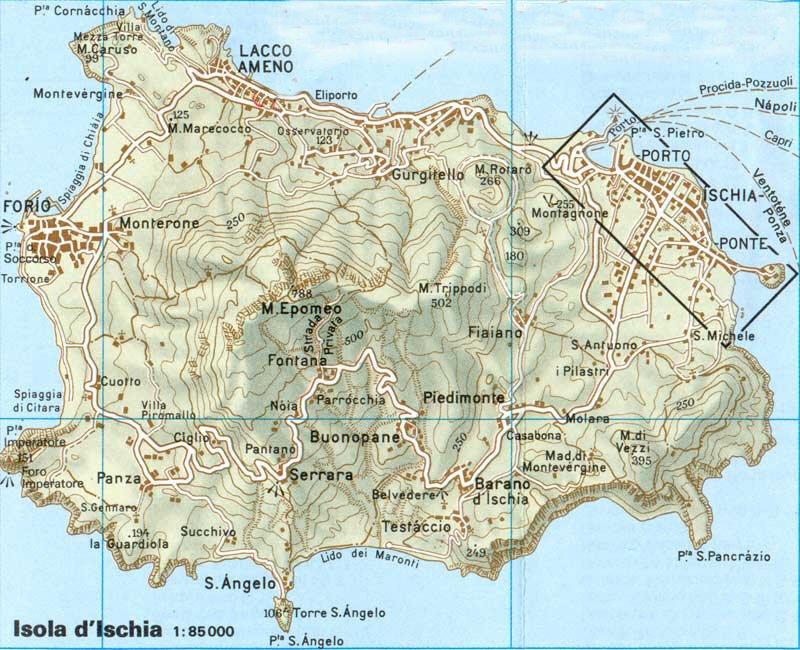 Карта курорта искья карта курорта