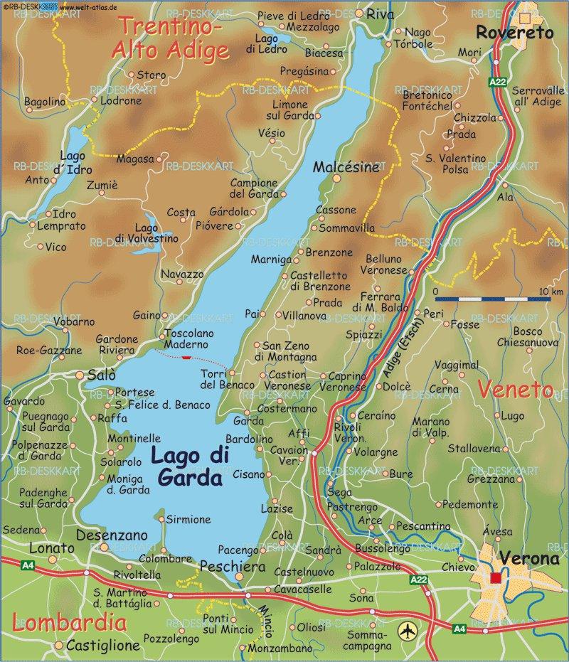Карты и схемы карта озеро гарда карта
