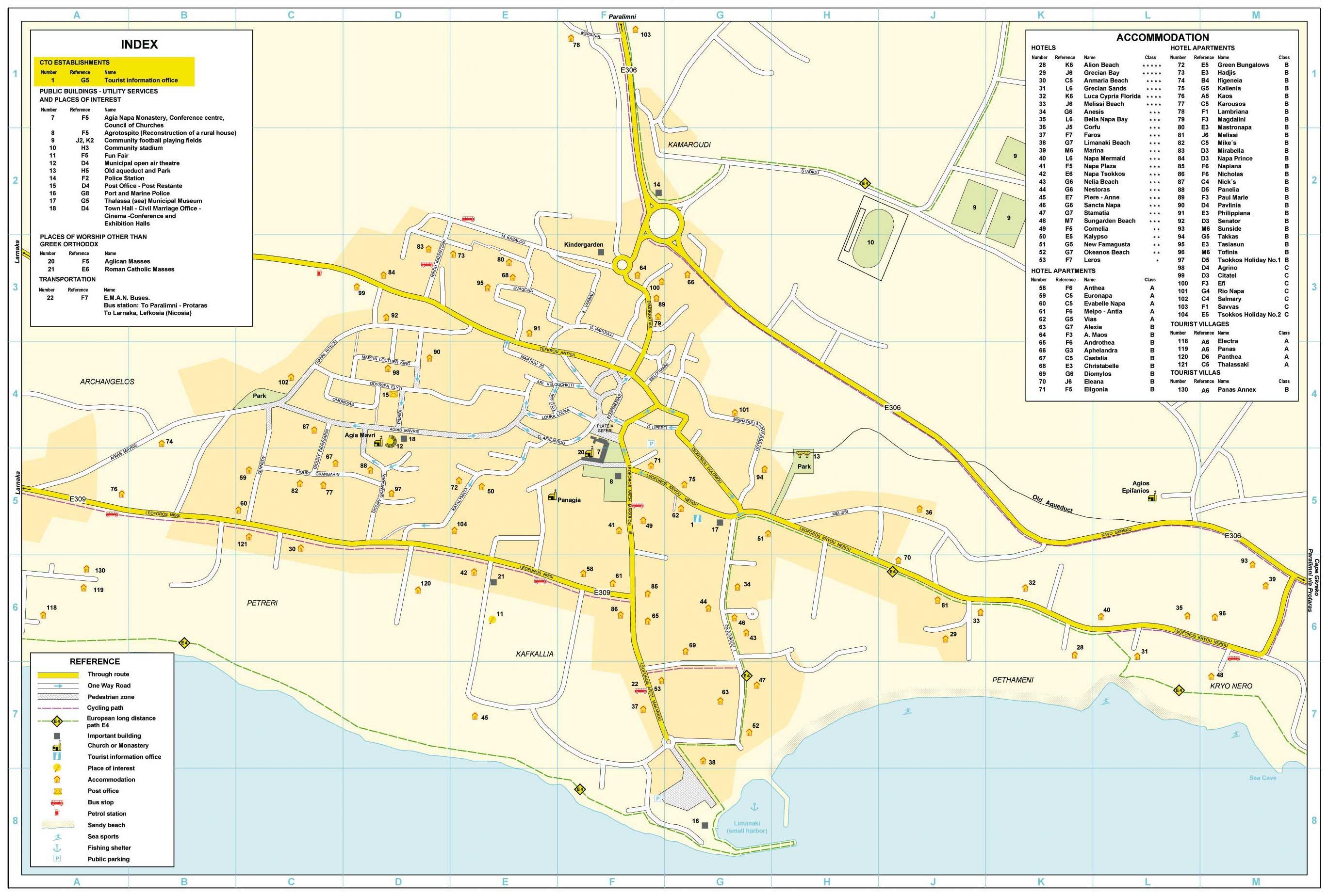 Карта Айя-Напы С Отелями.Rar