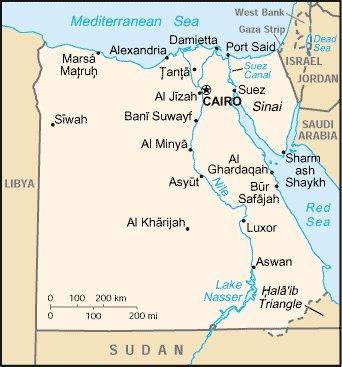 Политическая карта Египта
