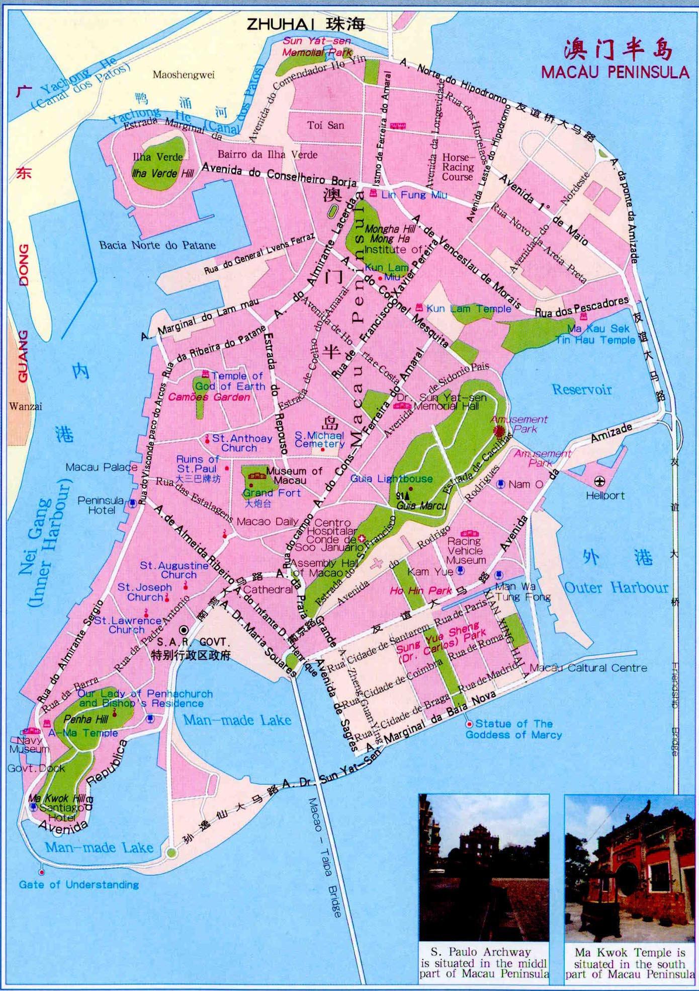 Карта курорта макао карта курорта