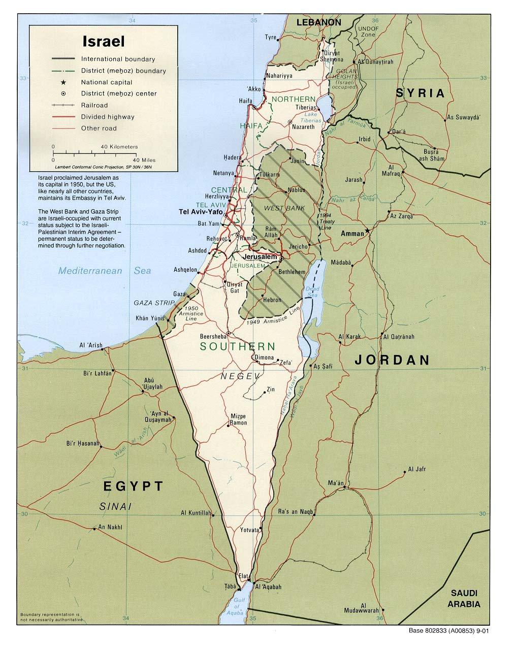 Карта израиля подробная карта израиля