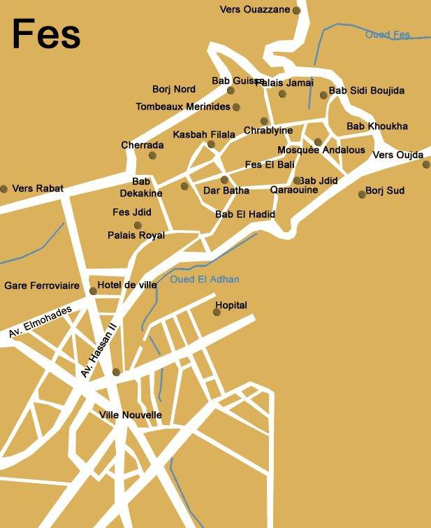 Карты и схемы карта курорта фес карта