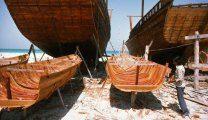 Верфь лодок доу в Дубайской бухте