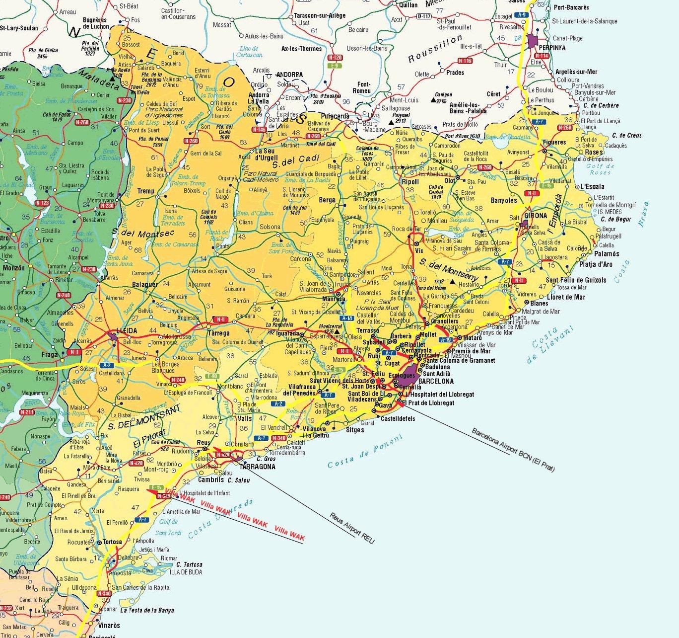 Расстояние от салоу до валенсии испания